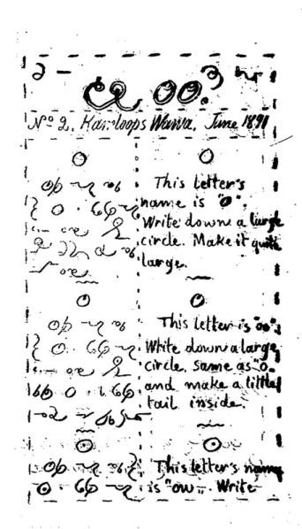 Kamloops Wawa no 2 of June 1891