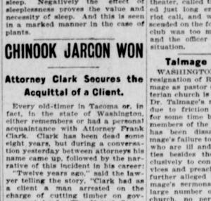 Chinook Jargon won