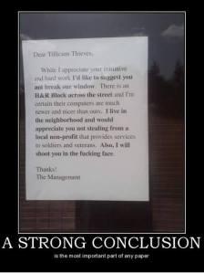 Dear Tillicum thieves