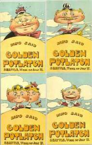 Seattle Golden Potlatch handbills