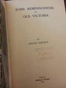 Some reminiscences of old Victoria 1