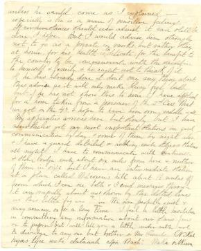 Civil War CJ letter page 1