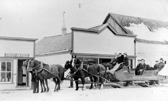 sleigh - BC Express Sled - Quesnel 1910