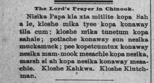 Lord's Prayer in Chinook (2)