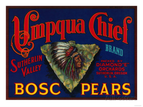 umpqua-chief-pear-crate-label-sutherlin-or