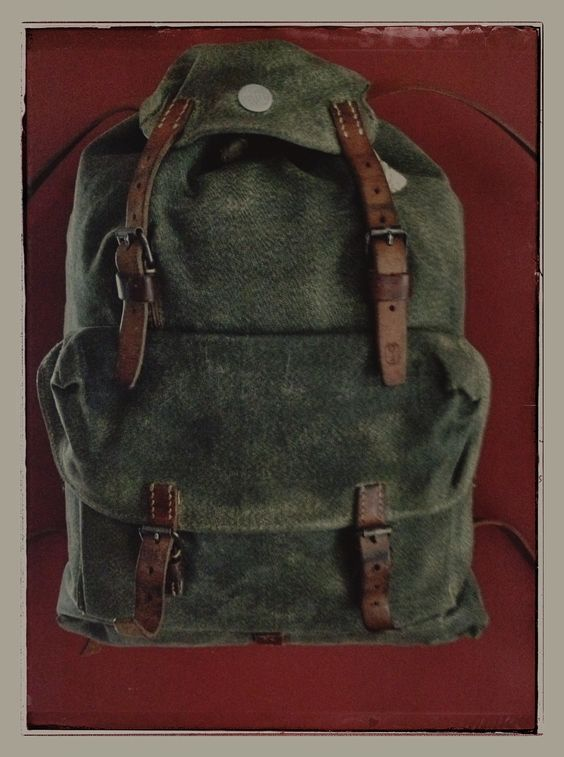Nettle cloth 1950s Swiss Army patrol pack