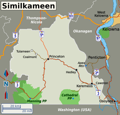 similkameen map