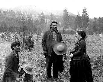 chief joseph and ethnologist alice aletcher via interpreter james stuart