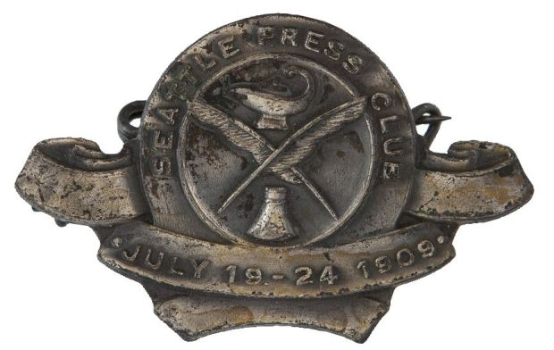 Seattle Press Club badge 1909