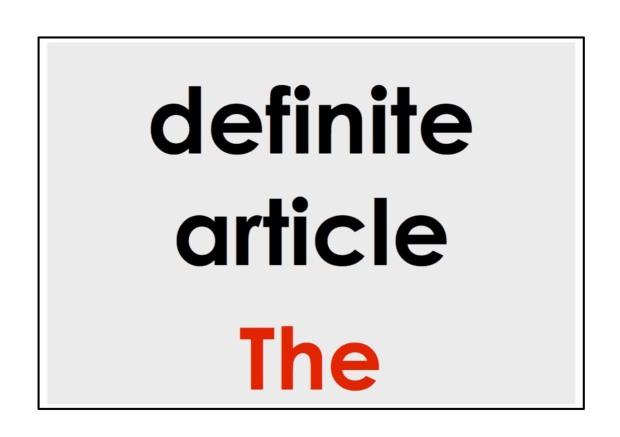 definite article