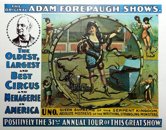 forepaugh circus snake charmer