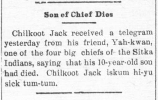 son of chief dies
