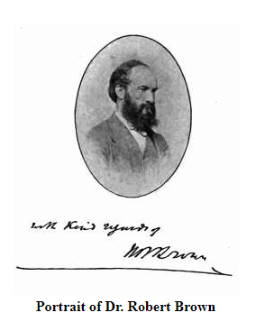 robert brown portrait and signature