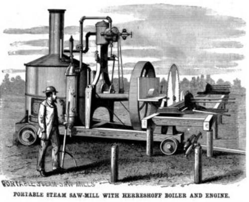steam saw mill