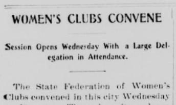 womens clubs convene