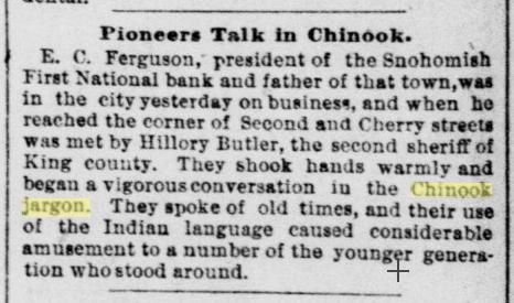 Pioneers talk in Chinook