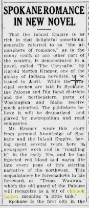 spokane romance in new novel