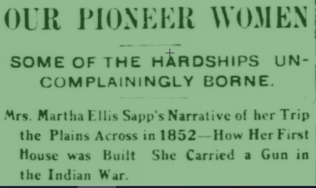 our pioneer women