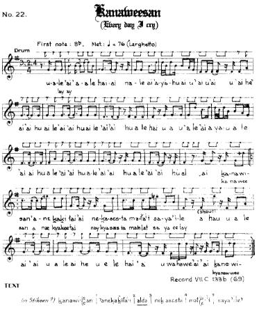 kanaweesan transcription