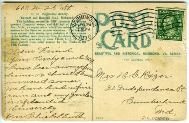 rizer postcard