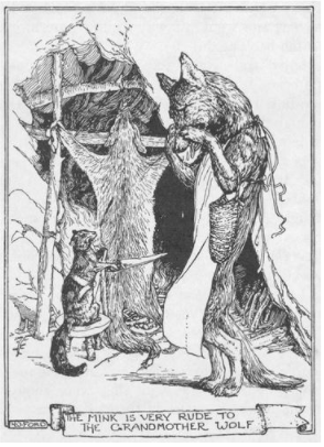 mink and wolf