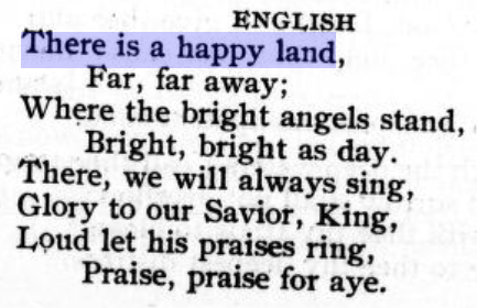 there is a happy land english