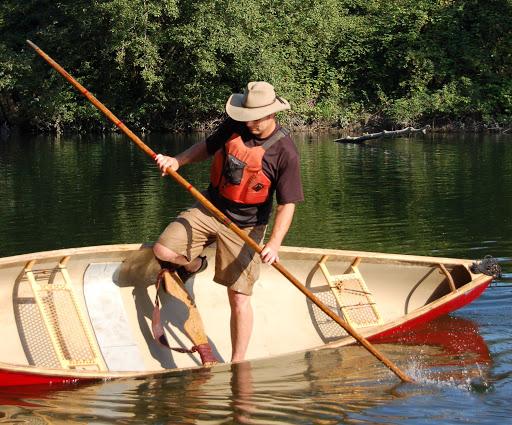 Poling a canoe (image credit: NWWoodsman.com)