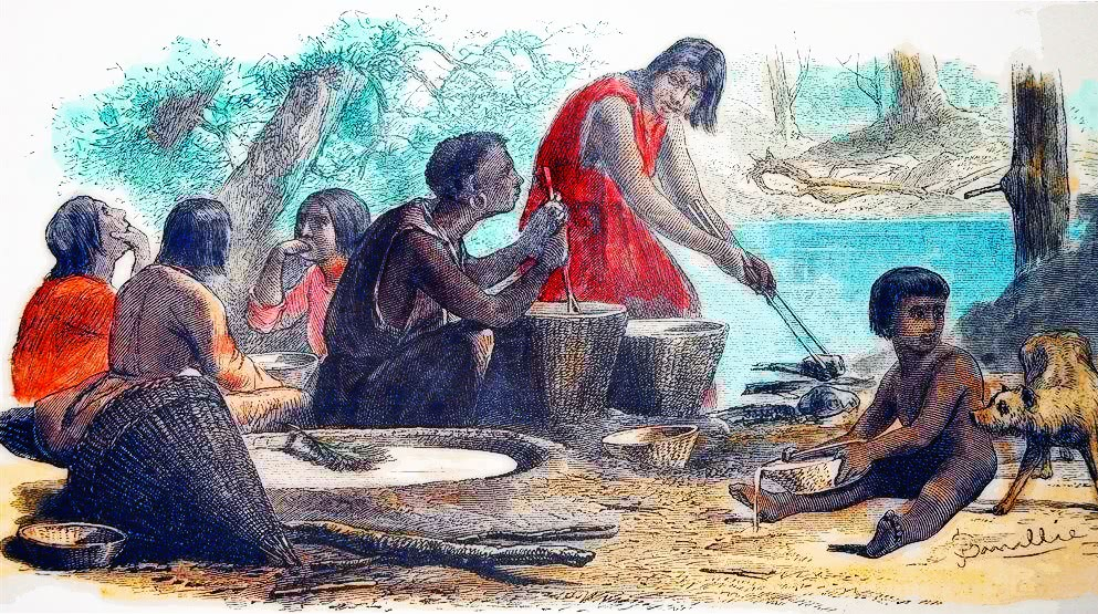 Yosemite_Indians_Making_Chemuck_1872