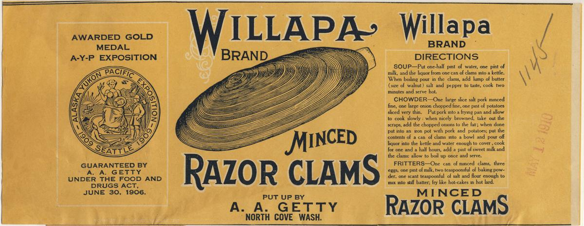clams label